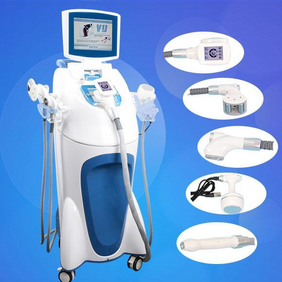 CE velashape body slimming machine cavitation vacuum rf system roller vaccum machine with 5 handles 40KHZ cavitation
