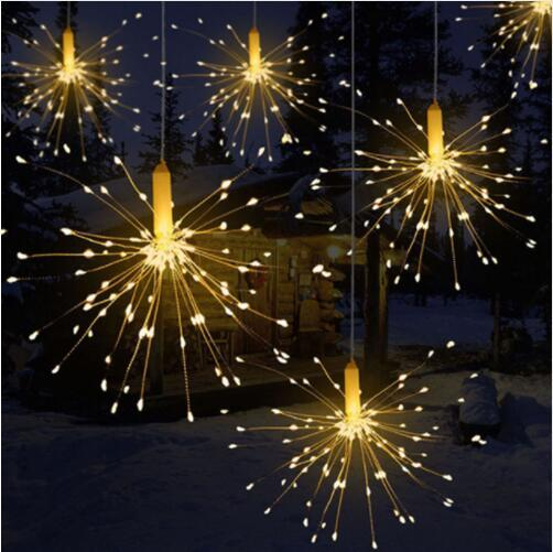 Christmas Led.Diy Outdoor Waterproof Christmas Led String Lights Firework Battery Operated Decorative Fairy Lights For Garland Patio Wedding Deck String Lights