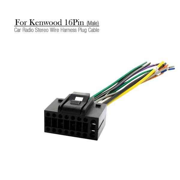 wholesale Car Radio Stereo Wire Harness Plug Cable 16 pin Male Connector For CHEVROLET AVEO/LOVA(SEDAN)/CHERY/LANDWIND #3458