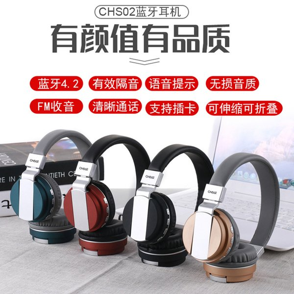 Drahtlose Kopfhörer Bluetooth Headset Kopfhörer Kopfhörer Ohrhörer Kopfhörer mit Mikrofon für PC Handy Musik
