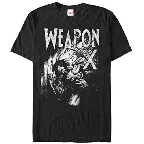 Summer t-shirts Men's X-Men Wolverine Weapon X Grayscale T Shirt Short Sleeve T-Shirt
