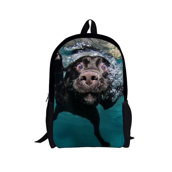 Hot 3D Animal Printing Backpack Cute Dog Dinosaur Backpacks For Teenager Children Kids Boys School Backpack Men's Casual Mochila