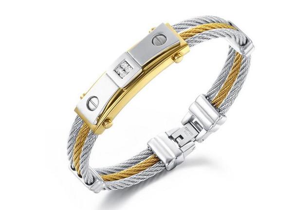 Creative titanium steel bracelet for men and women Korean fashion handbags trendy personality gift men's bracelets