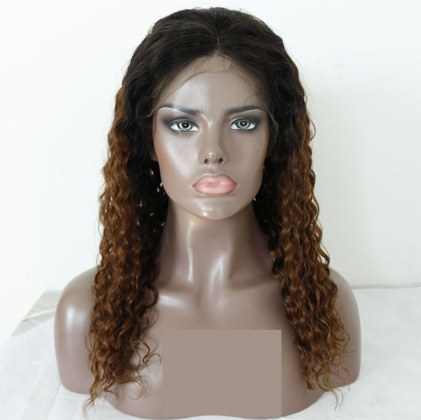 Lace Front Human Hair Wigs For Women Remy Brazilian 1b 30 Deep Curly Full Lace Wigs With Baby Hair Bleached Knots Pre Plucked
