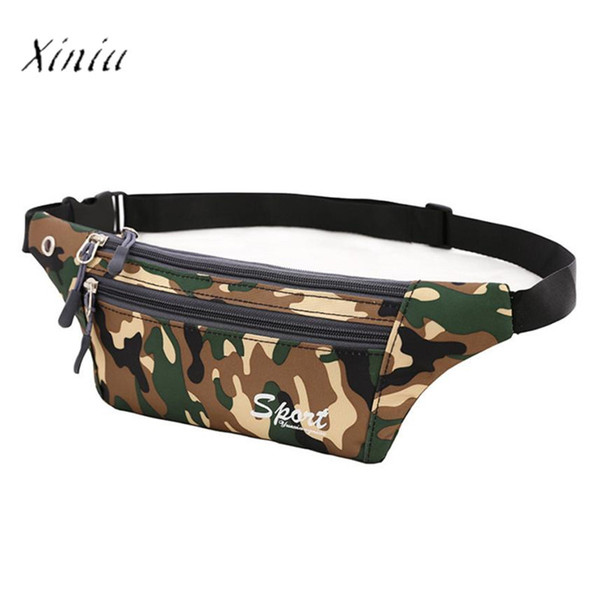 2017 Waist Pack for Men 2017 Camouflage Canvas Crossbody Shoulder Bag Chest Bag Women Money Belt Travelling Waist Belt
