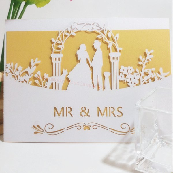 Laser Cut Elegant Vintage Invitation Card Wedding Guests Invitation Bridal Shower Supplies 6zsh070 Christmas Card Online Free Christmas Cards From