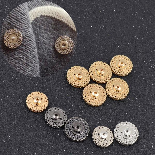 Boutons-pression en métal Elle aime 5pcs Noir Or Argent Bouton-pression en métal 18mm 21mm Fermoir Boutons Invisible Manteau Boutons Mode Boucle De Costume