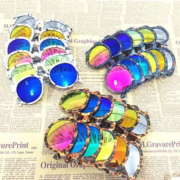 18 colors Korean Style Kids Hot Sale Fashion Colorful Personality Sunglasses Childrens Unisex Summer Anti-UV Pretty Sunglasses