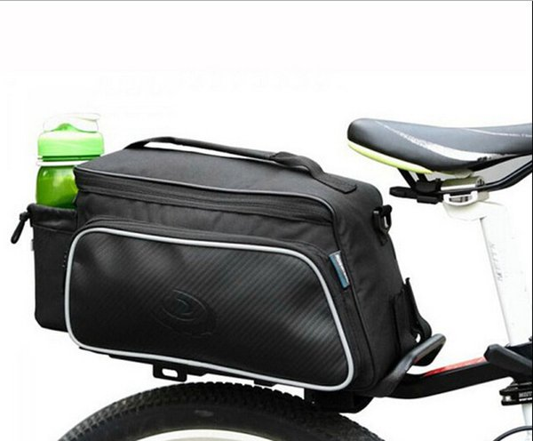 10L Cycling Bike Carbon Fiber Leather Bicycle Rear Rack Seat Pannier Bag Saddle Pouch Bike Bag Accessories