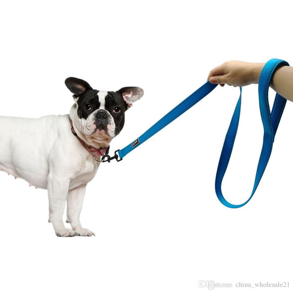 Reflective Dog Leash Night Safety Dogs Walking Outdoor Training Walking Leads With Soft Handle for Small Medium Breeds