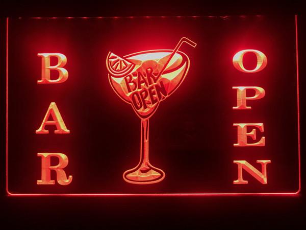 S031b- Bar Open Beer Cocktails Pub Led Light Sign