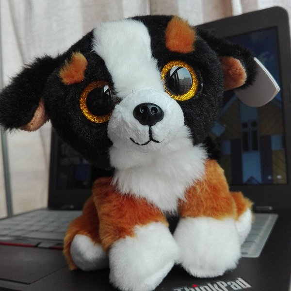 2016 TY BEANIE BABIES 15CM 6inch ROSCOE Dog Big Eyes Plush Toys Stuffed animals children toy soft toy home decor