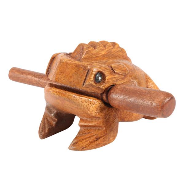 Großhandel Traditionellen Handwerk Holz Lucky Frog Art Figuren Dekorative Miniaturen Home Office Decor
