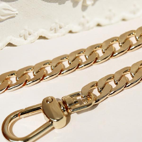 Sil Metal Replacement Chain Shoulder Bag Straps 9mm Gold 120cm DIY 40cm-140cm