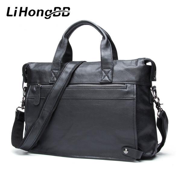 Men Luxury Fashion Handbag Genuine Leather Bags Business Mens Messenger Shoulder Bag Crossbody Men's Briefcase Laptop Tote