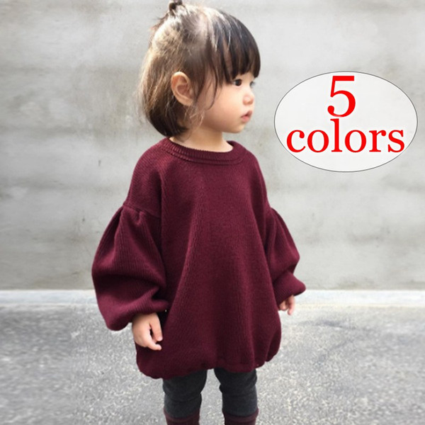 xmas ins primavera otoño niñas manga linterna Pullover camisa niños tops camisetas camisetas bebé baby INS Cardigan