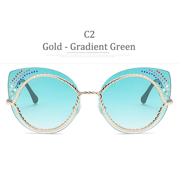 C2 Gold Frame Gradient Green