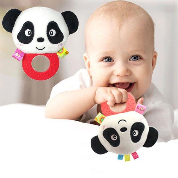 2018 new hot sale wholesale Newborn Baby Toys Cartoon Animal Boy Girl Rattles Hand Bell Infant Toddler Plush Toys jouet enfant free ship