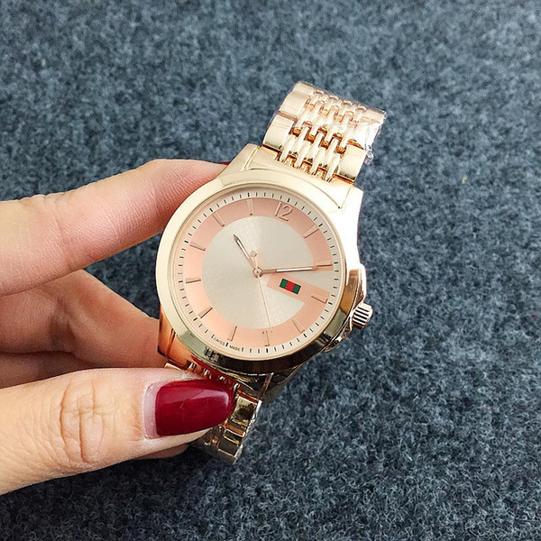 zichen080514 / Fashion Brand Women's Girl style stainless steel band quartz wrist watch GU28