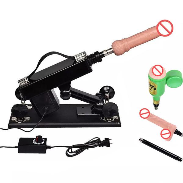 La mitragliatrice automatica del sesso viene con la tazza maschio di masturbazione e il dildo realistico Macchine potenti del sesso Giocattoli del sesso per le coppie delle donne