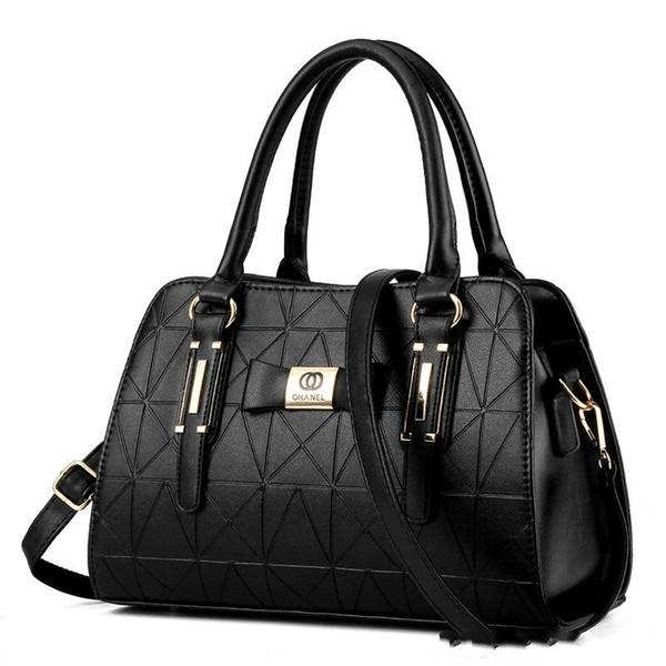 2018 New Luxury Women Handbags Lady PU Leather Crossbody Shoulder Messenger Bags Female Boston Bowknot Ladies Hand Bags