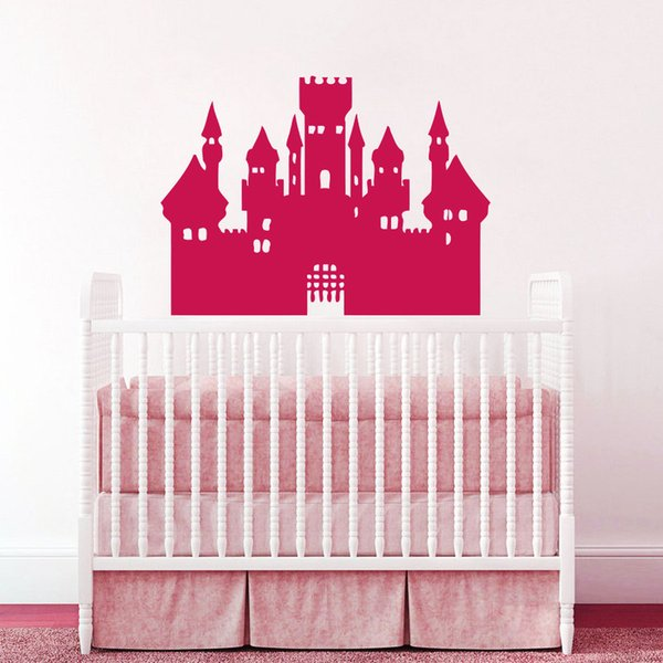 Removable Grand Castle Cartoon Wall stickers for living room Nursery kids bedroom home decoration