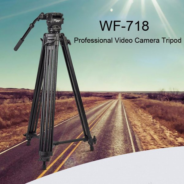 Weifeng WF 718 Professional Camera Video Tripod Stand With Fluid Pan Head For Dslr Camera Photography Studio Support Gorillapod