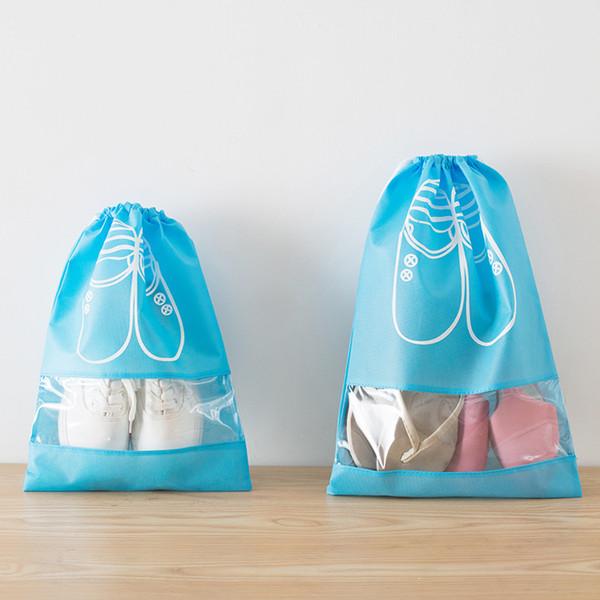 Waterproof Shoes Bag Pouch Storage Travel Bag Portable Tote Drawstring Bag Organizer Cover Non-Woven Laundry Organizador BH146