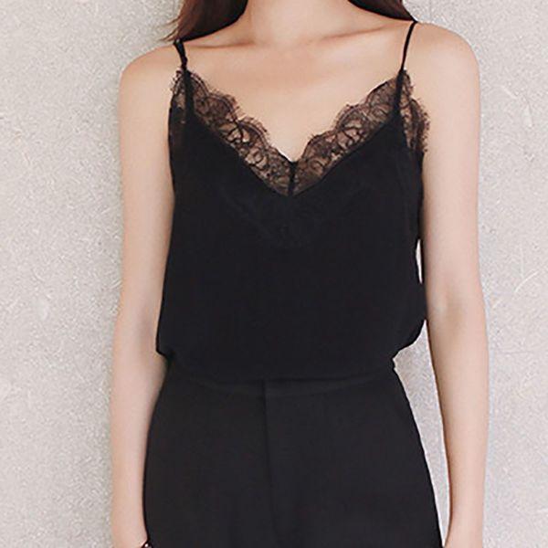 2018 Women Blouse Fashion Shirts Womens Ladies Casual Sexy Lace Sleeveless Vest Shirt Tank Blouse Tops #1