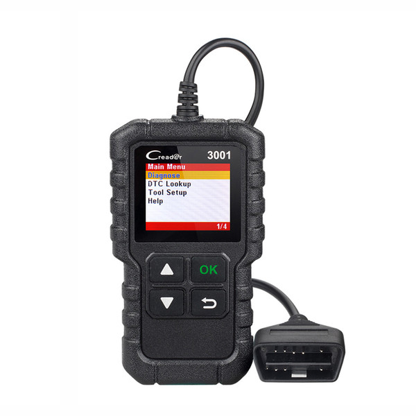 LAUNCH X431 Creader 3001 Full OBDII/EOBD Diagnostic Tool Code Reader Scanner Clear DTCs Support Multi-Language