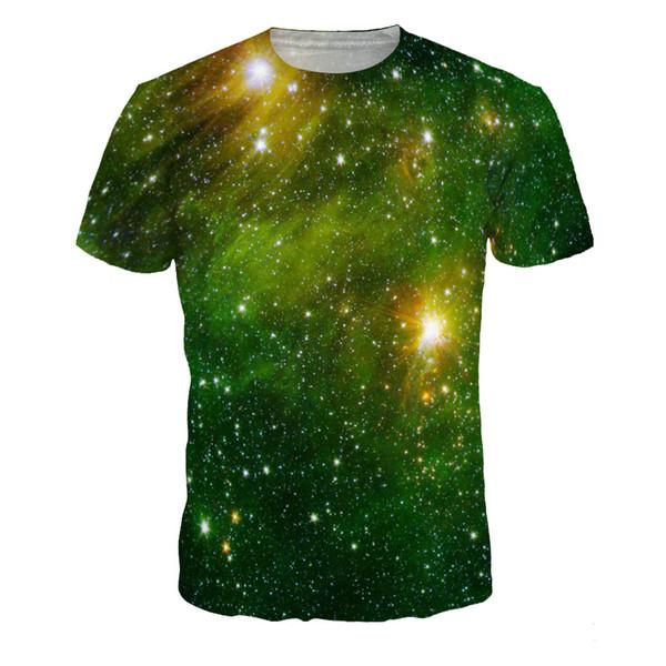Hommes Mode Chemises 3D Imprimé Unisexe T-shirts Galaxy Starry Série Tee Taille S-XXXL Livraison Gratuite