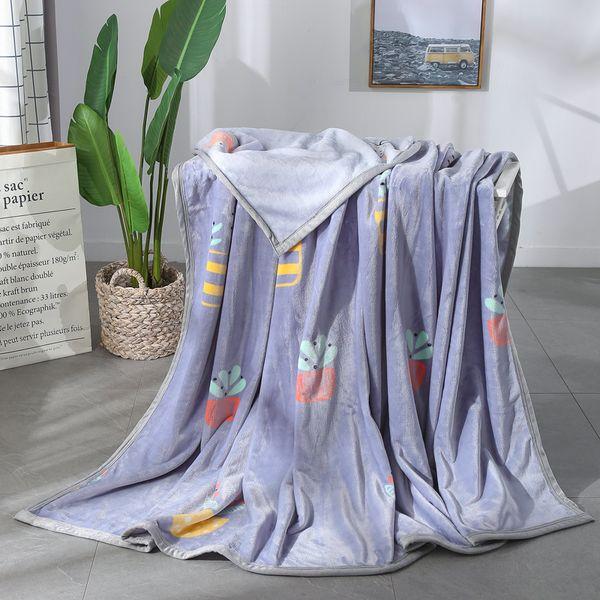 Modern Color Print High Quality Soft Flannel Plain Bedspread Blanket Throws Fleece Blanket Manta Coberto For Sofa Bed Car Office