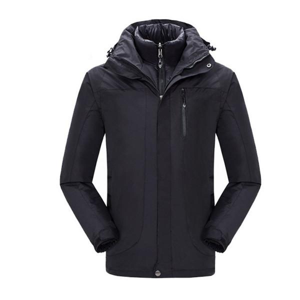 Winter Snowboard Skiing Lovers Overcoat Thicken Two Pieces Down Jackets For Men Women Warm Outdoor Sportswear Waterproof Coats