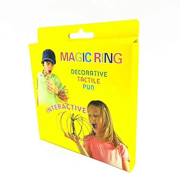 best selling Magic Bracelet Torofluxu Flow Ring Metal Toys Kinetic Spring Funny Outdoor Game Intelligent Relax Toy Fidget Spinner Stainless Steel
