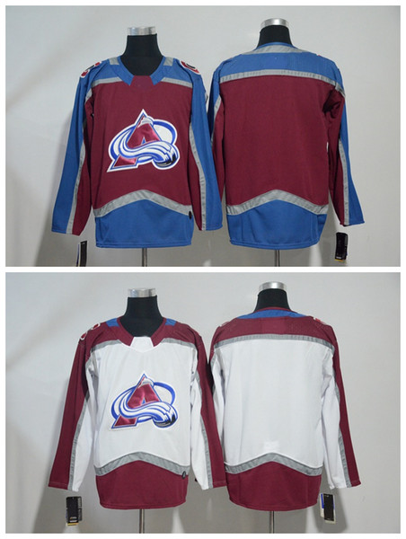 2018 Colorado Avalanche Jersey Blank No Name Number Red White Stitched Hockey Jersey