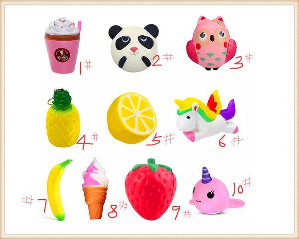 Compre Alta Qualidade Squishy Coleção Lento Rising Pão Scented Glitter Espuma Bonito Dos Desenhos Animados Kawaii Frutas Animais Ice Squishy