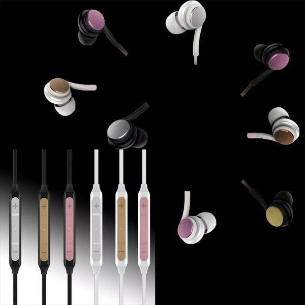 2018 NUOVO In Ear Grand Bass Wired Stereo Music Auricolari Auricolari universali per smartphone Supporto Android per iOS iPhone auricolare in metallo