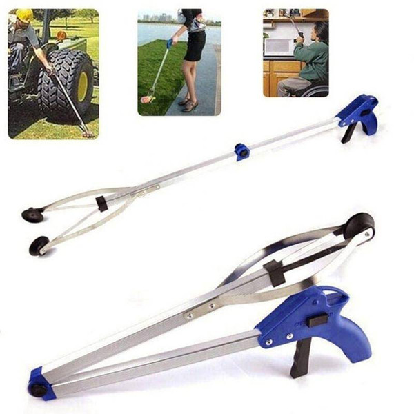 New Arrival Outdoor Foldable Aluminum Alloy Litter Trash Picker Grabber Gripper Reacher Help Hand Tool with Suction Cup