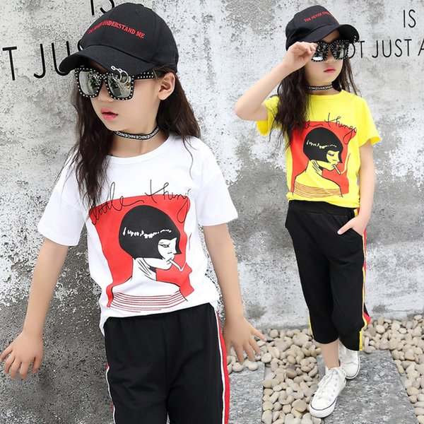 f62e3980a 2019 2018 Girls Set Clothes Kids Fashion Top Pant Two Piece Children Summer  Suit Girls Boutique Outfits 5 6 8 10 12 Years From Coolhi, $49.38 | ...