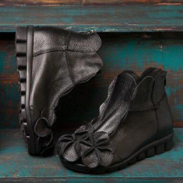 Schwarz Einzel Stiefel