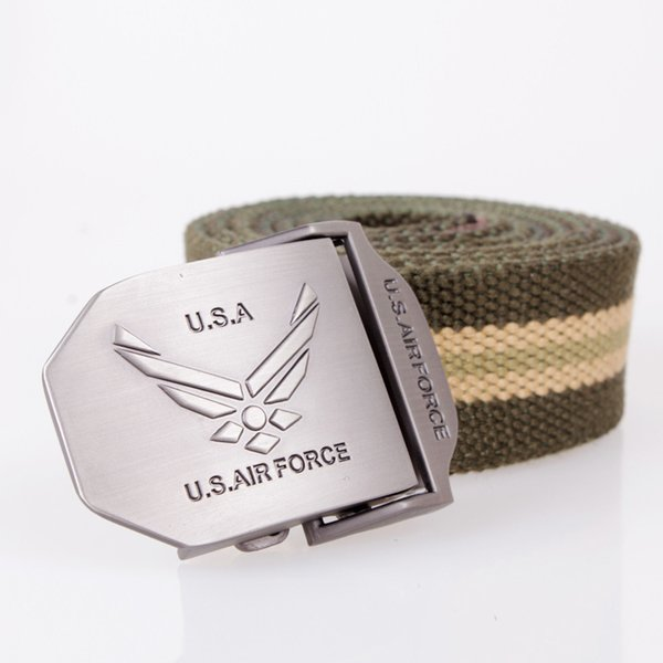 Designer Fashion Belts Man Canvas D Type Automatic Buckle Alloy Formal Solid Color Outdoors Daily Brand Luxury Belt 9wg hh