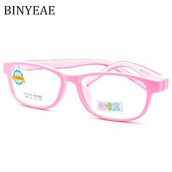 f7f9b1fd4baf BINYEAE Brand Kids 10 11 12 Years Old Teens Girl Eyeglass Boy Glasses TR 90  Rubber