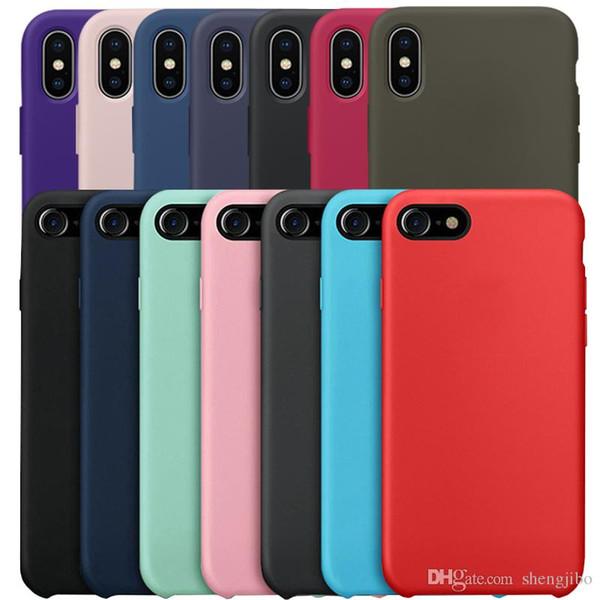 miglior servizio 358e4 c6abd Originale Cassa Del Telefono Il Iphone Di Apple 6 7 8 Plus Liquido Custodie  In Silicone IPhone X 6 S Back Cover + Scat Designer Cell Phone Cases ...