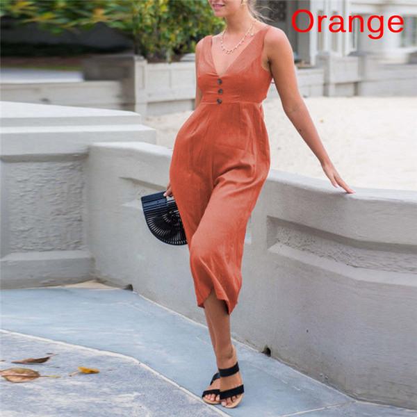 Backless Wide Leg Jumpsuit Black Deep V Neck Sleeveless Mid Waist Backless Jumpsuit Women Loose Solid