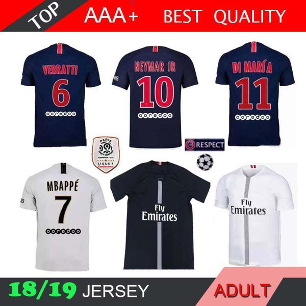 18 19 PSG MBAPPE casa camiseta T SILVA CAVANI DI MARIA PASTORE 2018 2019 París Verratti Matuidi bufanda temporadas camiseta personalizada