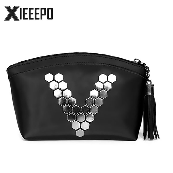 Fashion Letter V Cosmetic Bag Women Travel Makeup Case Zipper Make Up Handbag Organizer Storage Pouch Toiletry Wash Kit Bag