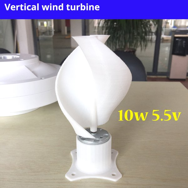 Micro Motor Small Led Lights Vertical Axis Wind Turbine Generator Blades Full Set Diy Wind Generator Windmill Pink Color 10w Wind Turbines Blades