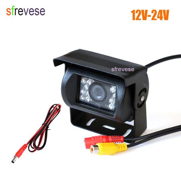 12V-24V 18 LED IR Night Vision Car Rear View Reversing Backup Parking Camera For Bus Truck Motorhom Vehicle 10pcs/lot