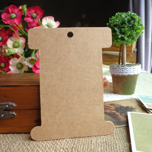 12pcs Big Size Kraft Bookmark Thickening Cardboard Gift Tags Price Label DIY Paper Hang Tags 8x10.3cm
