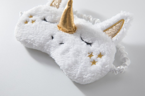 New Fashion Children'S Eye Mask Cosplay Unicorn Children'S Kids Boy Girl  Gift Travel Sleep Eyeshade Mask Sparkly Hair Accessories Make Baby Hair